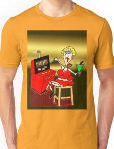HOT MAMA LUCKY 7'S SLOT MACHINE Unisex T-Shirt