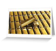 Gold Bars! Greeting Card