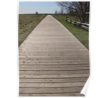 Boardwalk In Cobourg Poster