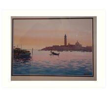 San Giorgio across the Venice lagoon Art Print