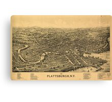 Panoramic Maps 1899 Plattsburgh NY Canvas Print