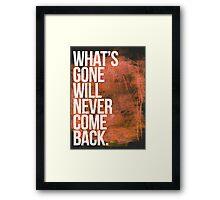 John Frusciante - One More of Me Lyrics Poster Framed Print