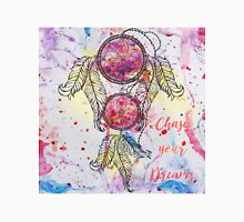 "Watercolor sketch Dreamcatcher ""Chase your Dreams"" quote Unisex T-Shirt"