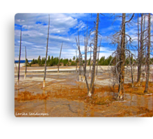 The sulfurized trees Canvas Print