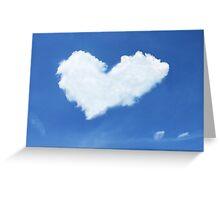 Heart cloud Greeting Card