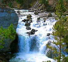 Firehole falls by Erika Price