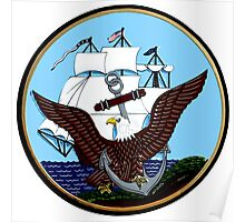 Constitution, Eagle & Anchor Logo of the Navy Poster