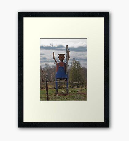 Scarecrow Tin Man Framed Print