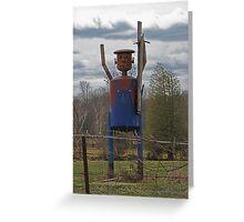 Scarecrow Tin Man Greeting Card