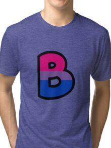 LGBT Alphabet - B (Bisexual) Tri-blend T-Shirt
