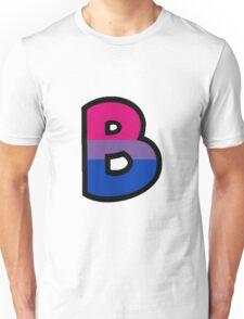 LGBT Alphabet - B (Bisexual) Unisex T-Shirt