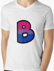 LGBT Alphabet - B (Bisexual) Mens V-Neck T-Shirt