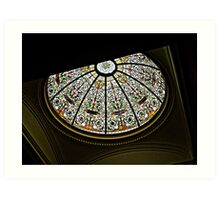 Stained Glass Dome, New Jersey Senate State House Art Print