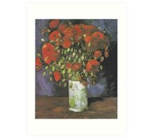 Vase with Red Poppies by Vincent van Gogh Art Print