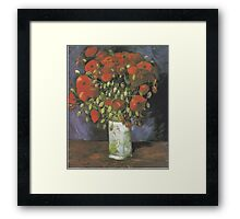 Vase with Red Poppies by Vincent van Gogh Framed Print
