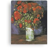 Vase with Red Poppies by Vincent van Gogh Canvas Print