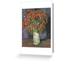 Vase with Red Poppies by Vincent van Gogh Greeting Card