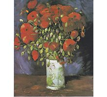 Vase with Red Poppies by Vincent van Gogh Photographic Print