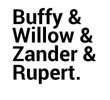 Buffy The Vampire Slayer Character Names (1) by onezenmom