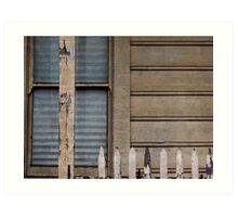 Wood, Window, Fence Art Print