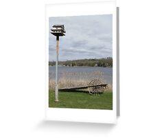 Bird House & Wagon Greeting Card