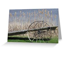 Cat Tails & Wagon Wheels Greeting Card