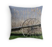 Cat Tails & Wagon Wheels Throw Pillow