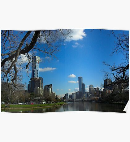 Melbourne from the river Poster