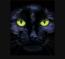 Black cat with green eyes Unisex T-Shirt