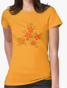 jungle blooms - orange and red flowers T-Shirt
