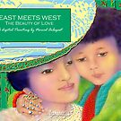 'East Meets West' The Beauty Of Love, Titled Greeting Card or Small Print by luvapples downunder/ Norval Arbogast
