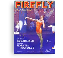 FIREFLY (vintage illustration) Canvas Print