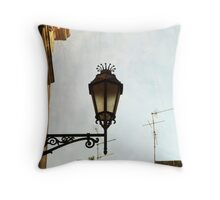 Lamp Post in Lecce Throw Pillow