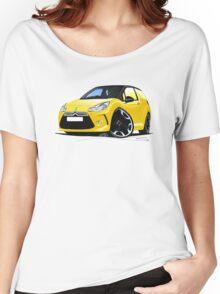 Citroen DS3 Yellow (Black) Women's Relaxed Fit T-Shirt
