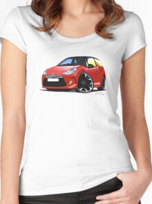 Citroen DS3 Red (Black) Women's Fitted Scoop T-Shirt
