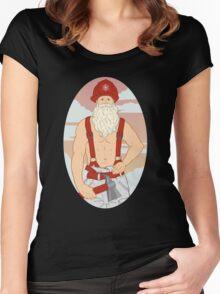Santa Fireman Women's Fitted Scoop T-Shirt