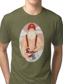 Santa Fireman Tri-blend T-Shirt