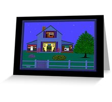 'House At Dusk' Greeting Card or Small Print Greeting Card