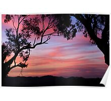 Sunset over the Brindabella Ranges. Poster