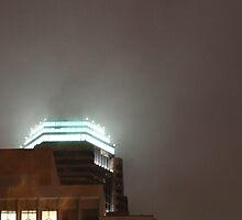 Night Rain, Downtown, Los Angeles Sky by Jane McDougall