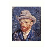 Self Portrait with Felt Hat by Vincent van Gogh Art Print