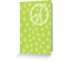 Peace symbol with flowers Greeting Card