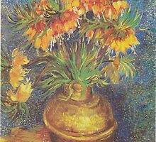 Crown Imperials in a Copper Vase by Vincent van Gogh by Robert Partridge