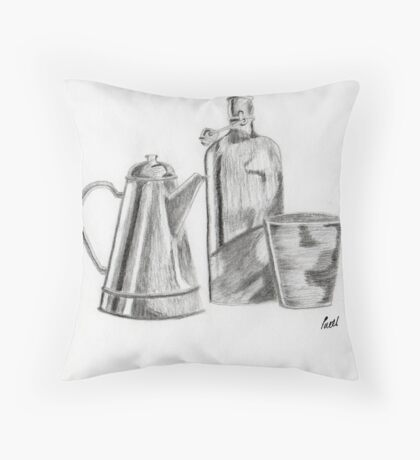 Still Life - Objects Throw Pillow
