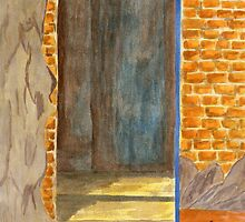 Weathered Wall with a Doorway by BAVVY