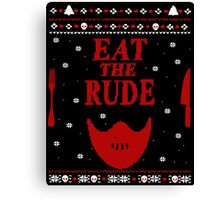 eat the rude - ugly christmas sweater -  mask Canvas Print
