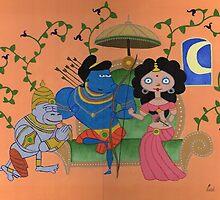 Ram, Sita & Hanuman by BAVVY
