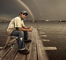 The Fisherman #0301 by Michiel de Lange