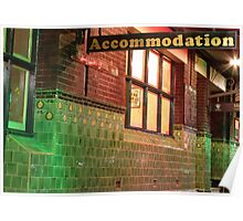 Accommodation Poster