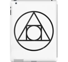 Alchemical Philosophers Stone Glyph, Black iPad Case/Skin
